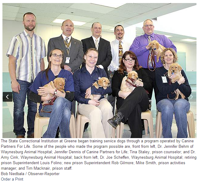 Inmates Volunteer With Canine Partners for Life to Train Puppies to Help People Who Have Physical Disabilities