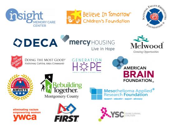 2017 new members of America's Charities logos