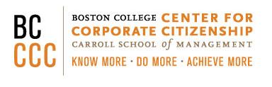 Boston College Center for Corporate Citizenship