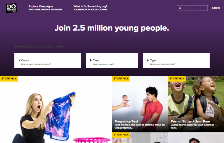 """""""Any Cause, Anytime, Anywhere"""" - That's What DoSomething.org's New Website Delivers"""