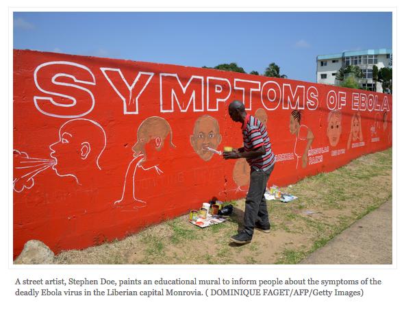 Symptoms of Ebola mural