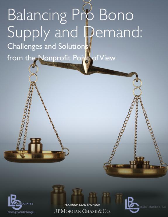 Balancing Pro Bono Supply and Demand