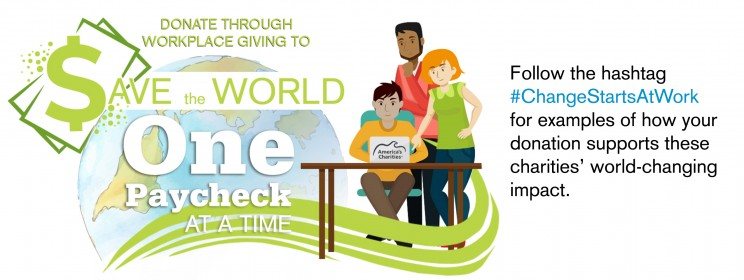 Donate through Workplace Giving to Save the World One Paycheck at a Time