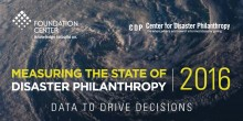 2016 Measuring the state of disaster philanthropy data