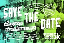 Save the Date! 6th Annual Prevent Cancer 5k is September 21, 2014