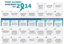 Food Allergy Action Month Calendar