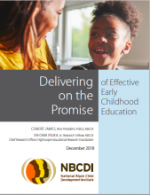 NBCDI: Delivering on the Promise of Effective Early Childhood Education