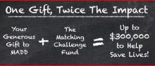 MADD Matching Gift Challenge