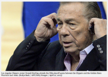 NAACP drops plan to honor Donald Sterling amid recording controversy