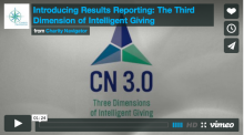 Charity Navigator Introduces Results Reporting: The Third Dimension of Intelligent Giving