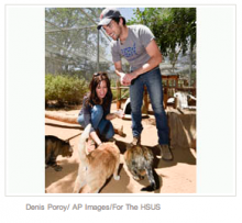 """""""Pretty Little Liars"""" Star Ian Harding Visits Rescued Animals at Fund for Animals Wildlife Center"""