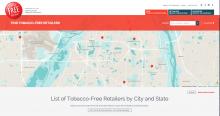 Tobacco-Free map