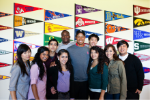Tiger Woods with Teens