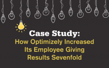 How Optimizely Increased Employee Giving Results Sevenfold