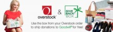 """Overstock.com """"Close the Loop"""" on Clothing Donations with Online Bin Benefiting  Goodwill"""